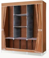 View MSE Stainless Steel Collapsible Wardrobe(Finish Color - Brown) Furniture (MSE)