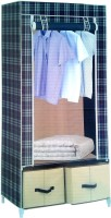 View Pindia Fancy & Portable Aluminium Collapsible Wardrobe(Finish Color - Check-B-Wardrobe) Furniture (Pindia)