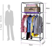 View EI Carbon Steel Collapsible Wardrobe(Finish Color - Blue) Furniture (EI)