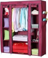 View Yutiriti Fancy & Portable Aluminium Collapsible Wardrobe(Finish Color - Marroon) Price Online(Yutiriti)