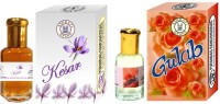 Purandas Ranchhoddas Kesar & Gulab Attar - 12ml Each Gift Set(Set of 2)