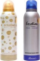 Rasasi Relation Women::Emotion Men Combo Set(Set of 2)