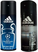 Adidas Champions League and Dynamic Pulse Combo Set(Set of 2)
