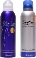 Rasasi Emotion Men::Blue Lady Combo Set(Set of 2)