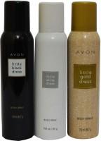 Avon Little Black & White & Gold Dress Body Each 150 ml Combo Set(Set of 3)