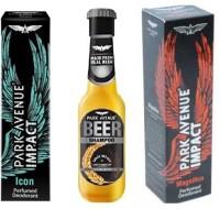 Park Avenue Icon,Magnificco and Anti Dandruff Beer Shampoo Combo Set(Set of 3)