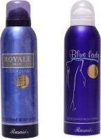 Rasasi Royale Blue Men::Blue Lady Combo Set(Set of 2)