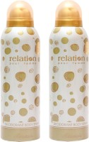 Rasasi 2 Relation Women Deodorant Spray  -  For Women(400 ml, Pack of 2)