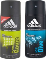 Adidas Ice Dive and Pure Game Combo Set(Set of 2)