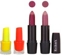 Rythmx FB RYTH BLK LIPSTICKS AND NAIL POLISH IMPORTANT COMBO 036(Set of 4)