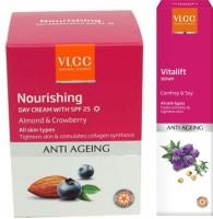 VLCC Nourshing Day Cream and Vitalift Serum(Set of 2)