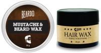 Beardo beard and mustache wax and Hairwax(Set of 2)