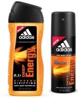 Adidas Deep Energy 2-in-1 Shower Gel & Deep Energy deo(Set of 2)