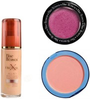 Blue Heaven X Factor Foundation (Blush), Silk On Face Compact (Pink) & Diamond Blush on 501(Set of 3)
