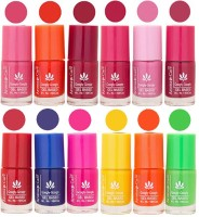 Aroma Care Dhamaka Offer - Gel Based Nail Polish Set of 12 Pcs at Wholesale Price ( 72 ml) Peach, Orange, Mauve, Pink, Peach, Pink, Red, Blue, Magenta, Yellow, Orange, Neon Green(Pack of 12)