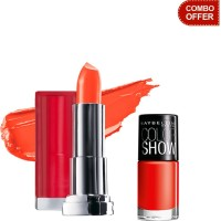 Maybelline Color Show Lip Color with Color Show Nail Color(Set of 2)