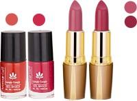 Aroma Care Orange Nail Polish + Purple Lipstick Combo 2907201648(Set of 4)