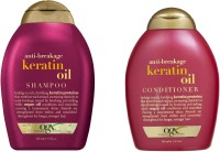 OGX Anti Breakage Keratin Oil ( Organix ) Conditioner And Shampoo(Set of 2)