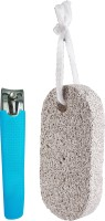 Panache Nail Clipper Anti-Skid & Pumice Stone Scrubber(Set of 2)