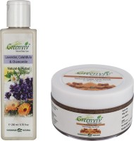 Greenviv Lavender Calendula & Chamomile Body Lotion (200 ml) With Fruity Brown Sugar Face Scrub (50 gm)(Set of 2)