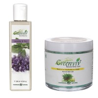 Greenviv 1 Lavender & Tulsi Hair Conditioner (200 ml) and 1 Neem & Tea Tree Bath Salt (100)(Set of 2)