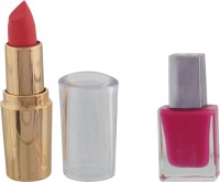 Paras Stain Lipstick,Glossy Nail Polish(Set of 2) - Price 153 78 % Off