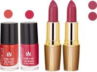 Aroma Care Orange Nail Polish + Purple Lipstick Combo 2907201692(Set of 4)