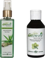 Greenviv Aloe-Vera & LemonGrass Face Toner (100 ml) With Natural & Herbal Hair Oil Body (100 ml)(Set of 2)