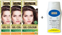 Indus Valley Organically Natural Gel Copper Mahogany 5.40 Doctors recommended Triple Pack Hair Color & CP Shampoo Combo Set(Set of 4)