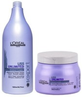 L'Oreal Paris Liss unlimited keratin Oil complex Shampoo and Mask(Set of 2)