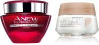 Ori flame Sweden Optimals Even Out Night Cream 50Grm + Anew Reversalist Complete Renewal Night Cream 50 Gm(Set of)