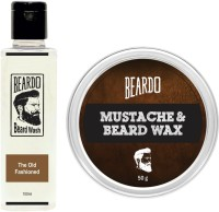 Beardo The Old Fashioned Beard Wash (100ml) & Wax (50g) Combo(Set of 2)