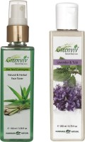 Greenviv Aloe-Vera & LemonGrass Face Toner (100 ml) With Lavender & Tulsi Hair Conditioner (200 ml)(Set of 2)