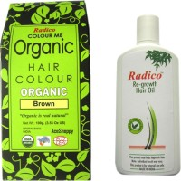 Radico BROWN WITH RE GROWTH HAIR OIL(Set of 2)