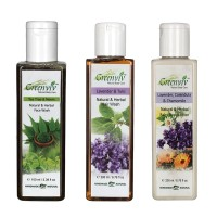 Greenviv Tea Tree & Neem Face Wash (100 ml), Lavender & Tulsi Hair Wash (200 ml) With Lavender Calendula & Chamomile Body Lotion (200 ml)(Set of 3)