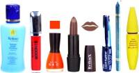 Rythmx Brown Lipstick Orange Nail Polish Remover Skinny Liquid EyeLiner Sindoor Pro Non Transfer Turquoise Blue Kajal Bold Look Maskara Color Fever Kit 6866(Set of 7)