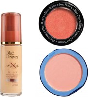Blue Heaven X Factor Foundation (Natural), Silk On Face Compact (Skin) & Diamond Blush on 503(Set of 3)
