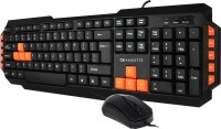 View Amkette Xcite PRO Desktop Wired Keyboard and Mouse Combo Set Laptop Accessories Price Online(Amkette)