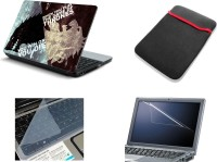 View NAMO ART 4in1 Laptop Skins with Laptop Sleeve, Screen Guard and Key Protector CDH1029 Combo Set Laptop Accessories Price Online(Namo Art)