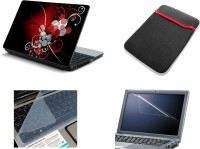View NAMO ART 4in1 Laptop Skins with Laptop Sleeve, Screen Guard and Key Protector CDH1006 Combo Set Laptop Accessories Price Online(Namo Art)