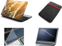 View NAMO ART 4in1 Laptop Skins with Laptop Sleeve, Screen Guard and Key Protector CDH1049 Combo Set Laptop Accessories Price Online(Namo Art)