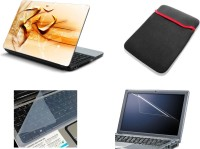 View NAMO ART 4in1 Laptop Skins with Laptop Sleeve, Screen Guard and Key Protector CDH1026 Combo Set Laptop Accessories Price Online(Namo Art)