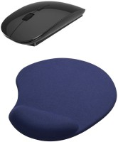 View Outre 2.4Ghz Ultra Slim Wireless Mouse & Mousepad Combo Set Laptop Accessories Price Online(Outre)