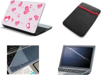 View NAMO ART 4in1 Laptop Skins with Laptop Sleeve, Screen Guard and Key Protector CDH1004 Combo Set Laptop Accessories Price Online(Namo Art)