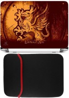 View FineArts Dragon Age Logo Laptop Skin with Reversible Laptop Sleeve Combo Set Laptop Accessories Price Online(FineArts)