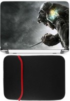 FineArts Assassins Dark Laptop Skin with Reversible Laptop Sleeve Combo Set