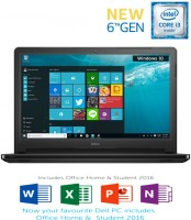 Dell Core i3 6th Gen - (4 GB/1 TB HDD/Windows 10 Home) 5559 Laptop(15.6 inch, Black, 2.36 kg, With MS Office)