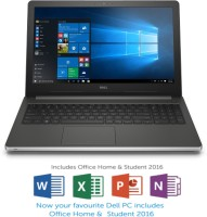 Dell Inspiron 5000 Core i7 6th Gen - (8 GB/1 TB HDD/Windows 10 Home/2 GB Graphics) 5559 Laptop(15.6 inch, Silver, 2.4 kg, With MS Office)