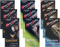 KamaSutra Longlast, Superthin, Wet n Wild - UPFK200402 Condom(Set of 9, 108S)