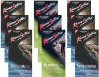 KamaSutra Wet n Wild, Superthin - UPFK200294 Condom(Set of 9, 108S)
